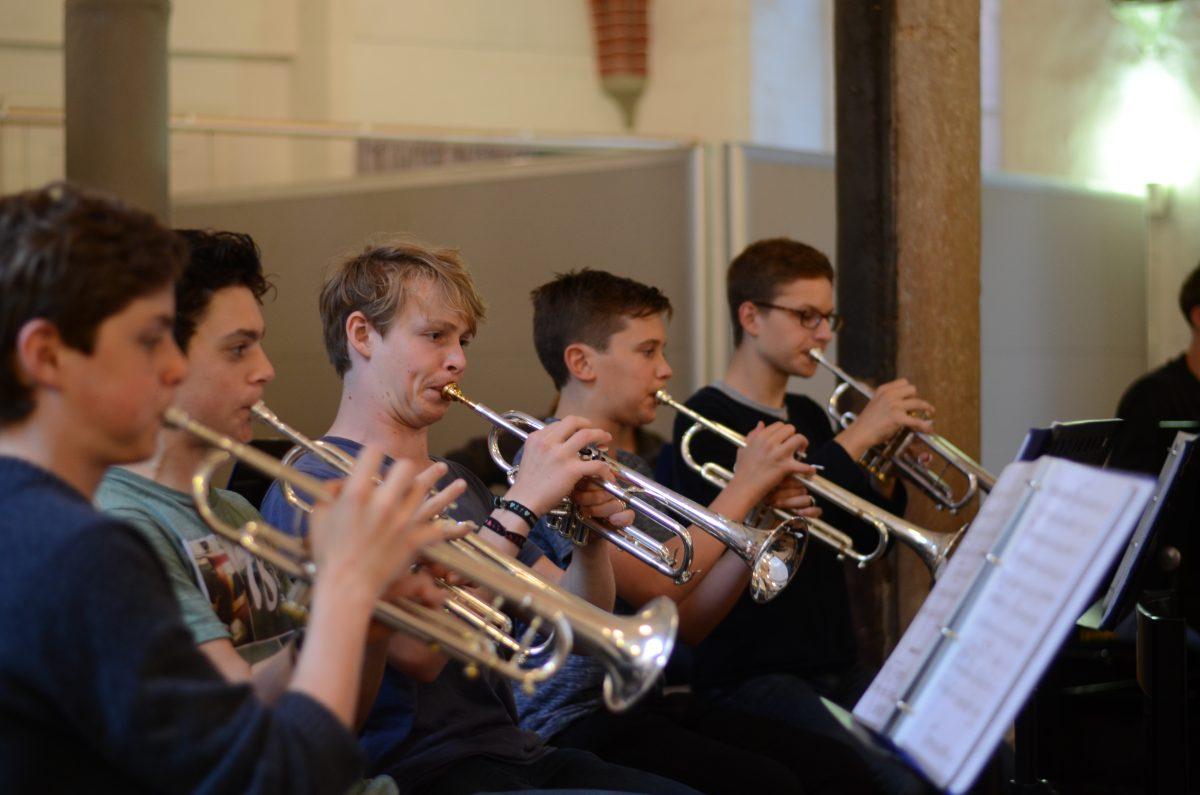 Die Trompeter der Jazz-Combo