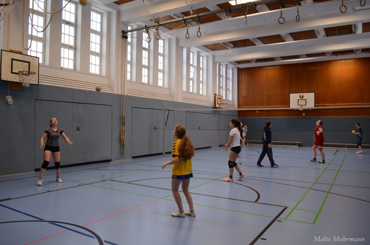 Volleyball AG im Training