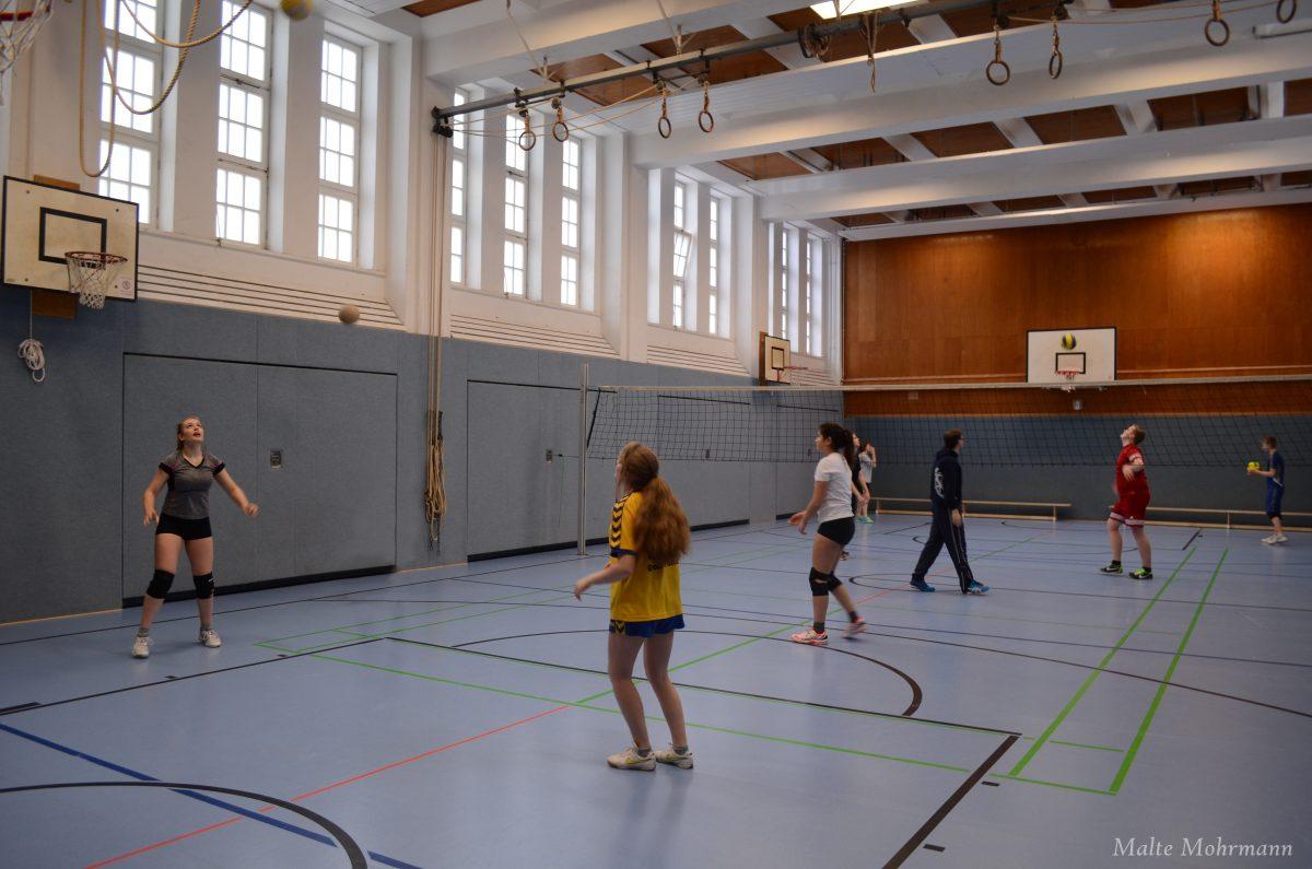 Volleyball AG im Training