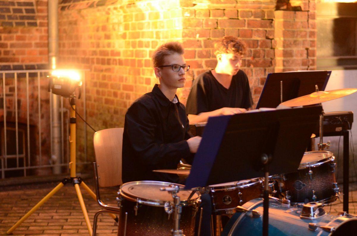 Ausklang mit der Jazz-Combo auf dem Turnhof