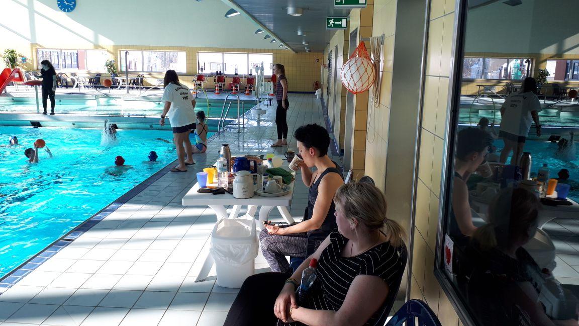 Gute Sicht auf die Schwimmer