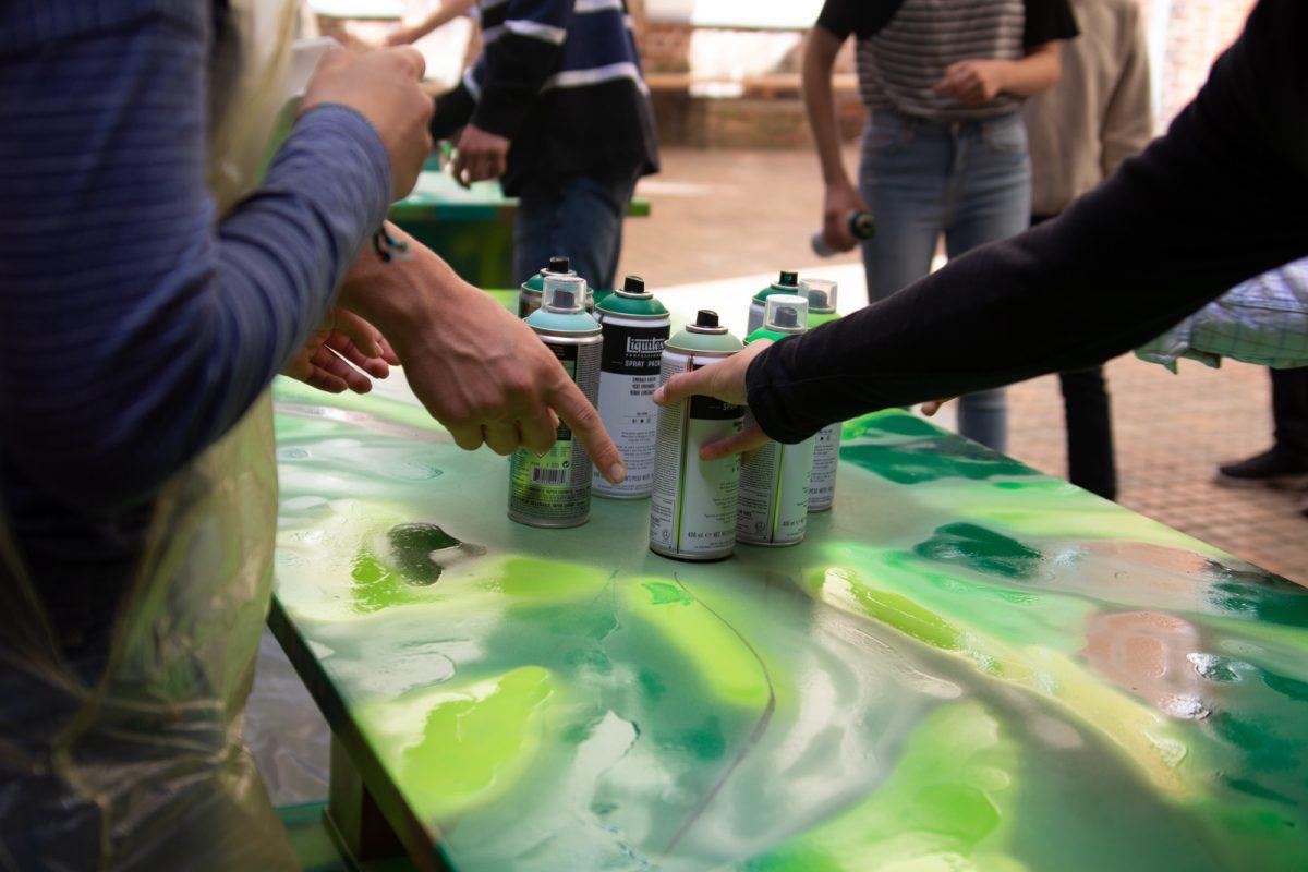 Neugestaltung Grüner Tisch