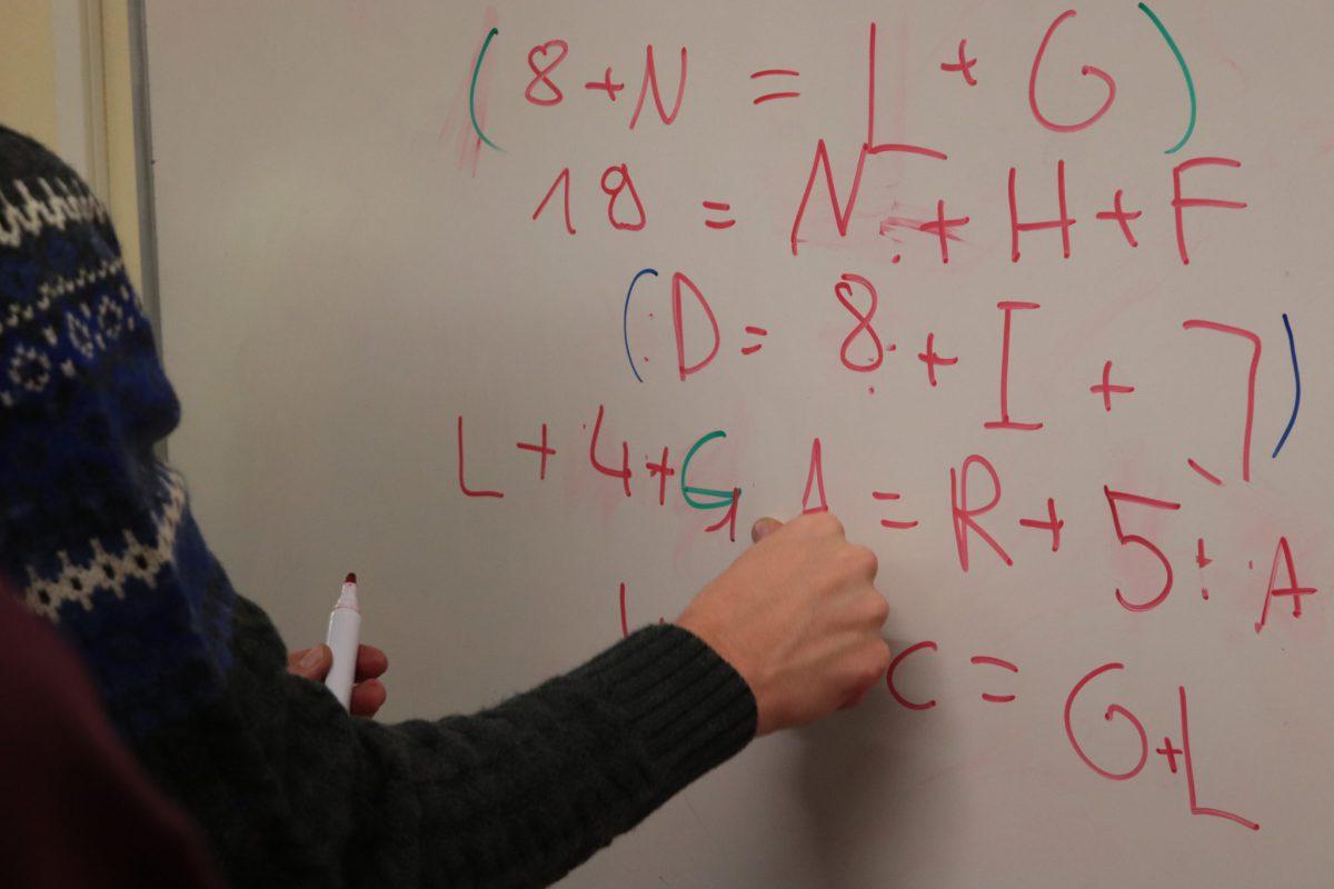 Komplizierte Gleichung mit 14 Unbekannten