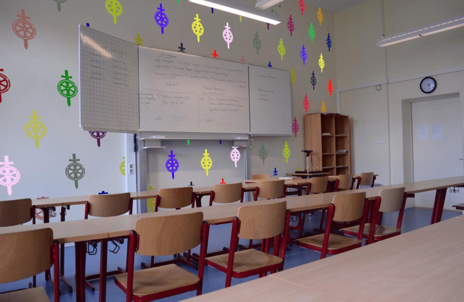 Neues Farbkonzept - Klassenraum