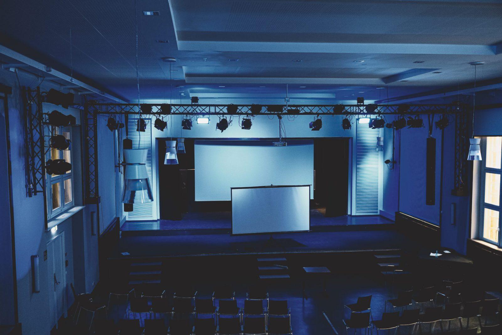 Lichttechnik in der Aula