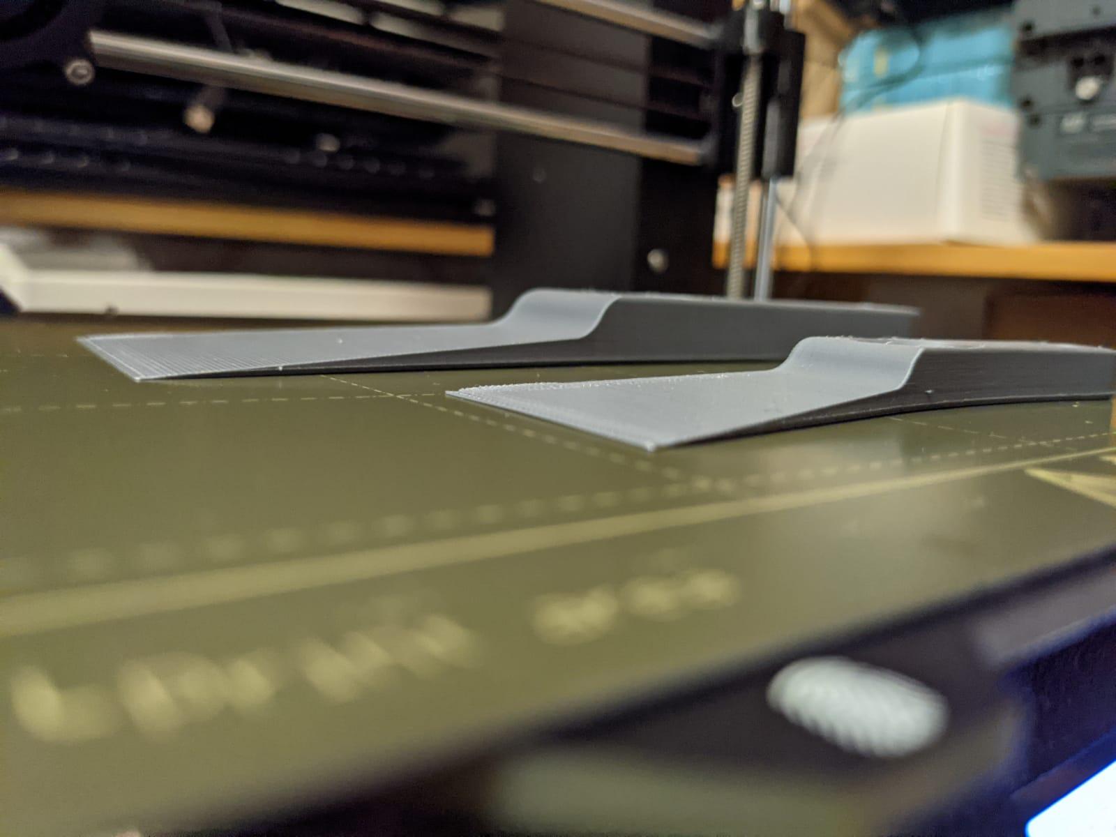 Fertig gedruckte Spachtel