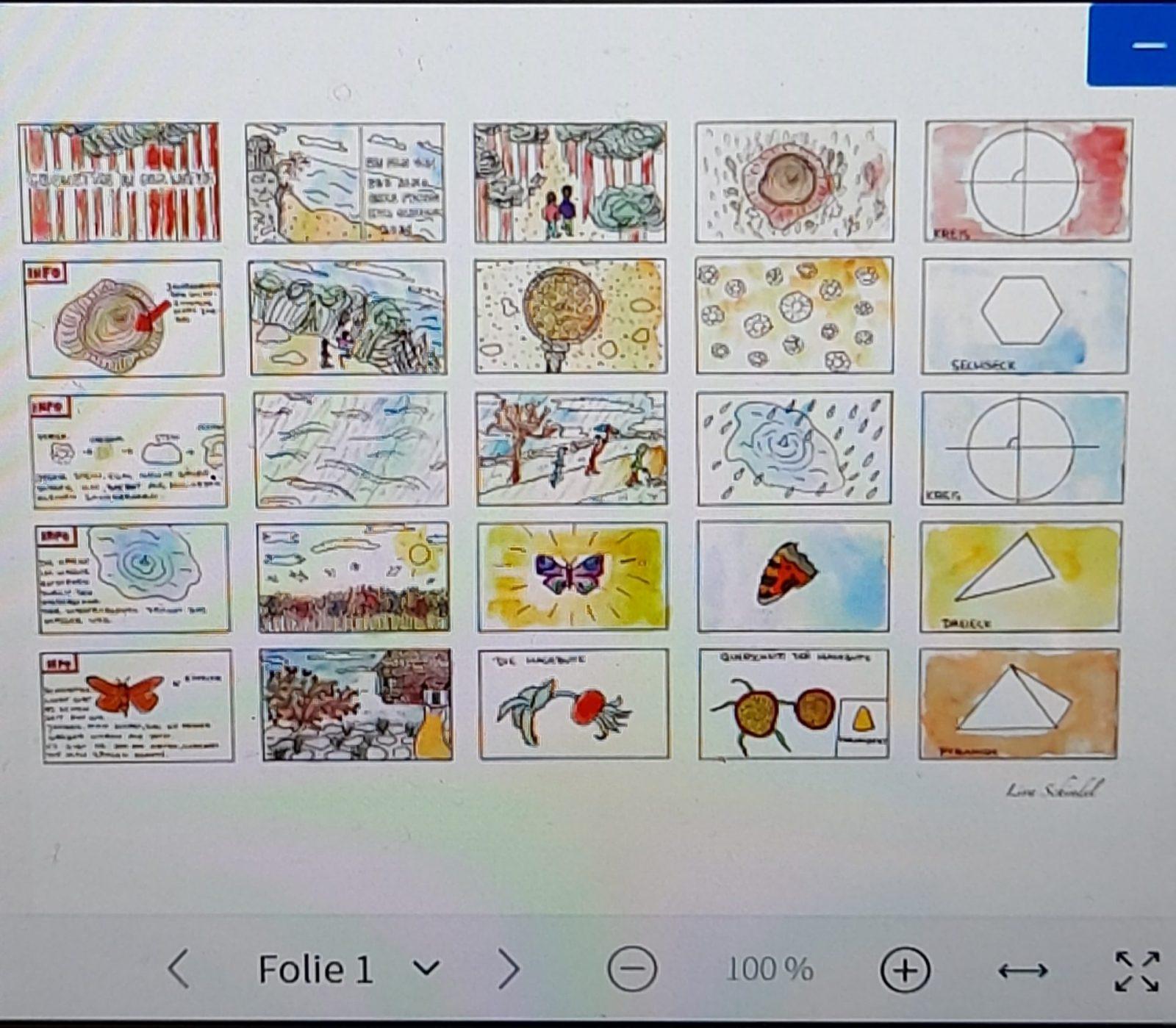 Teilnahme an Mathe-Kunstwettbewerb der 9c