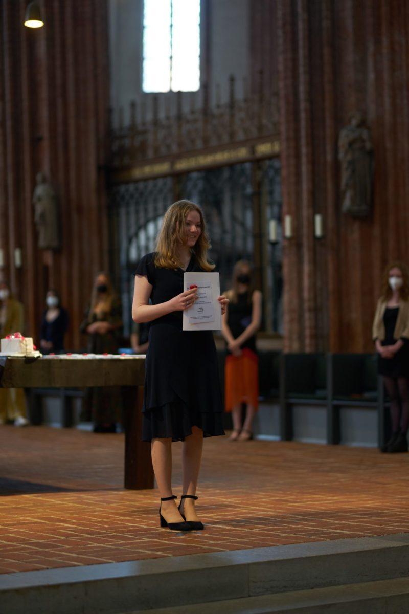 Saskia Beck (Q2d) - Preis des Bundes der Freunde